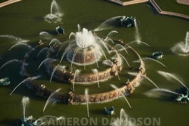 Aerial photograph of Buckingham Fountain in Grant Park