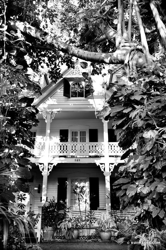 KEY WEST FLORIDA BLACK AND WHITE
