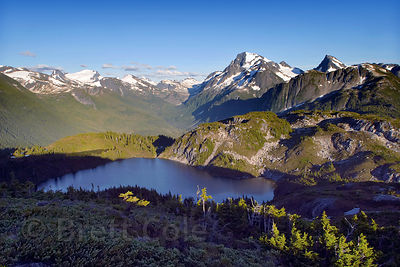 Mount Gurr Lake and the upper Clayton Creek Valley, Great Bear Rainforest, Nuxalk Territory, British Columbia