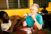 Ghana - Tamale - Sister Joan, a nun, teaches at the youth Alive Project in Tamale