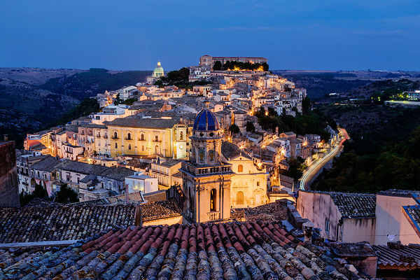 Elevated View of Ragusa Ibla at Dusk