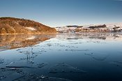 Ice forming on Ullswater in the English Lake District
