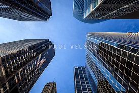 Chicago Buildings Looking Upward to the Sky