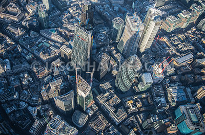 City of London. Aerial photograph