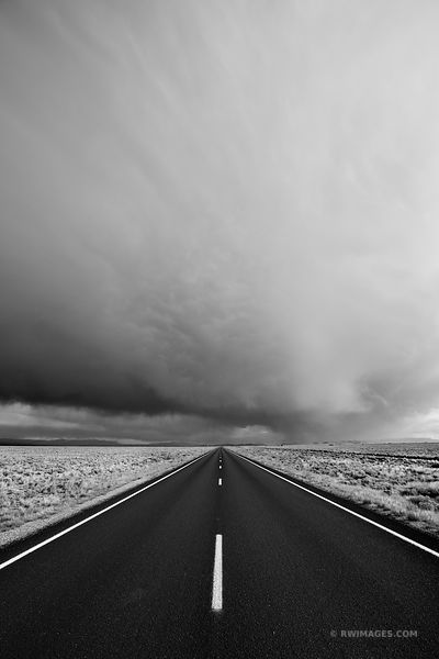 ROAD IN SAN LUIS VALLEY COLORADO BLACK AND WHITE VERTICAL