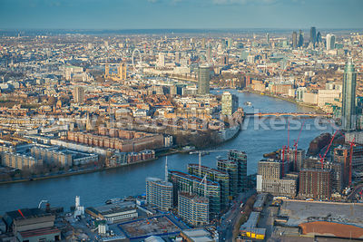 Aerial view of Nine Elms, London