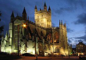 Bath Abbey at Dusk, Bath, UK