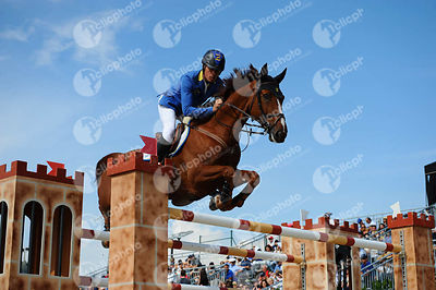 Christian AHLMANN ,(GER), REAVNIR during Longines Cup of the City of Barcelona competition at CSIO5* Barcelona at Real Club de Polo, Barcelona - Spain