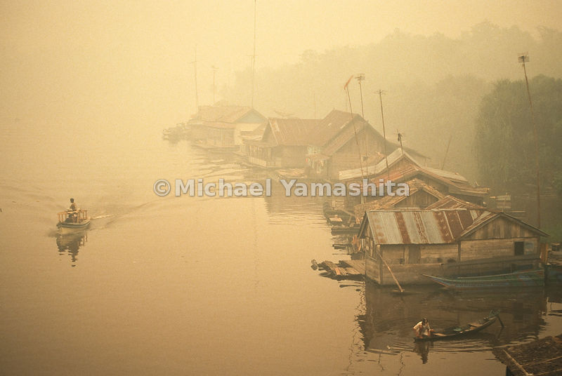 Fishing villages are frequently seen throughout Southeast Asia.