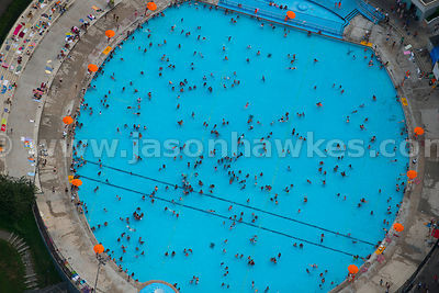 Swimming pool, Manhattan, New York.