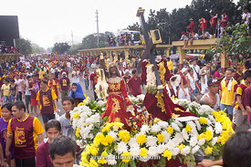 procession of Black Nazarene in Quiapo, Manila Philippines.