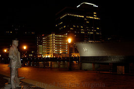 Night scence Downtown Norfolk