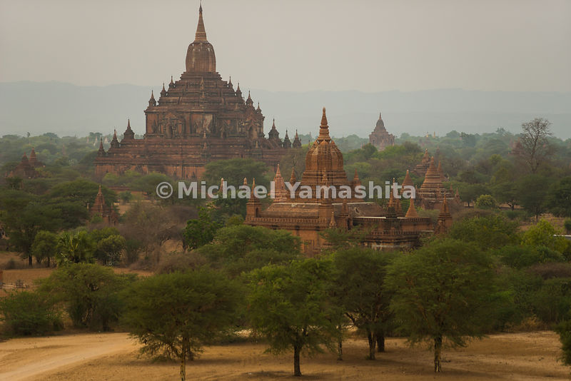 Pyathadar Temple towers over the plain. The thousands of temples, pagodas and monasteries in Bagan, once relatively unknown outside Myanmar, are now drawing tourists from around the world.
