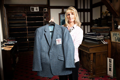 Osset tailors, Carl Stuart, once made a suit jacket for Donald Trump..Jane Firth