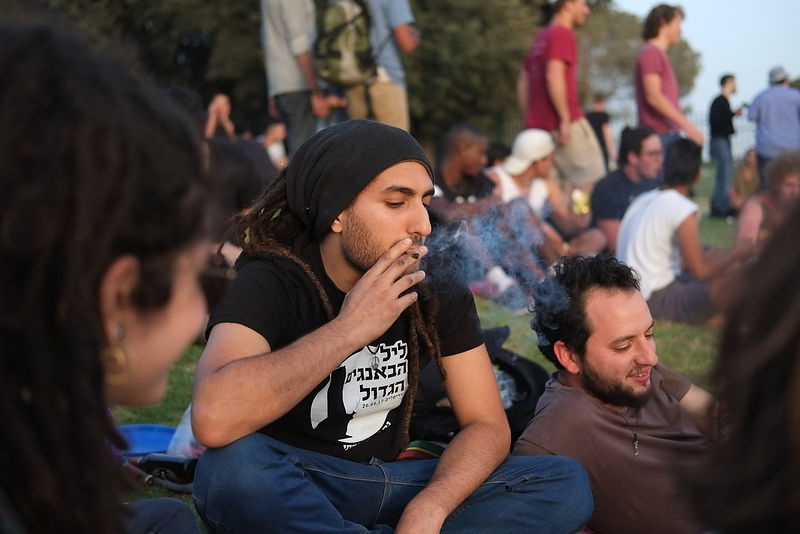 marijuana smoking day, in a demonstration to legalize