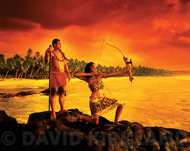 Dramatic sunset scene, Savaii