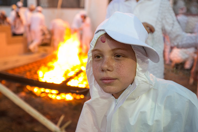 Samaritan community attend the traditional Passover sacrifice in Mount Gerizim