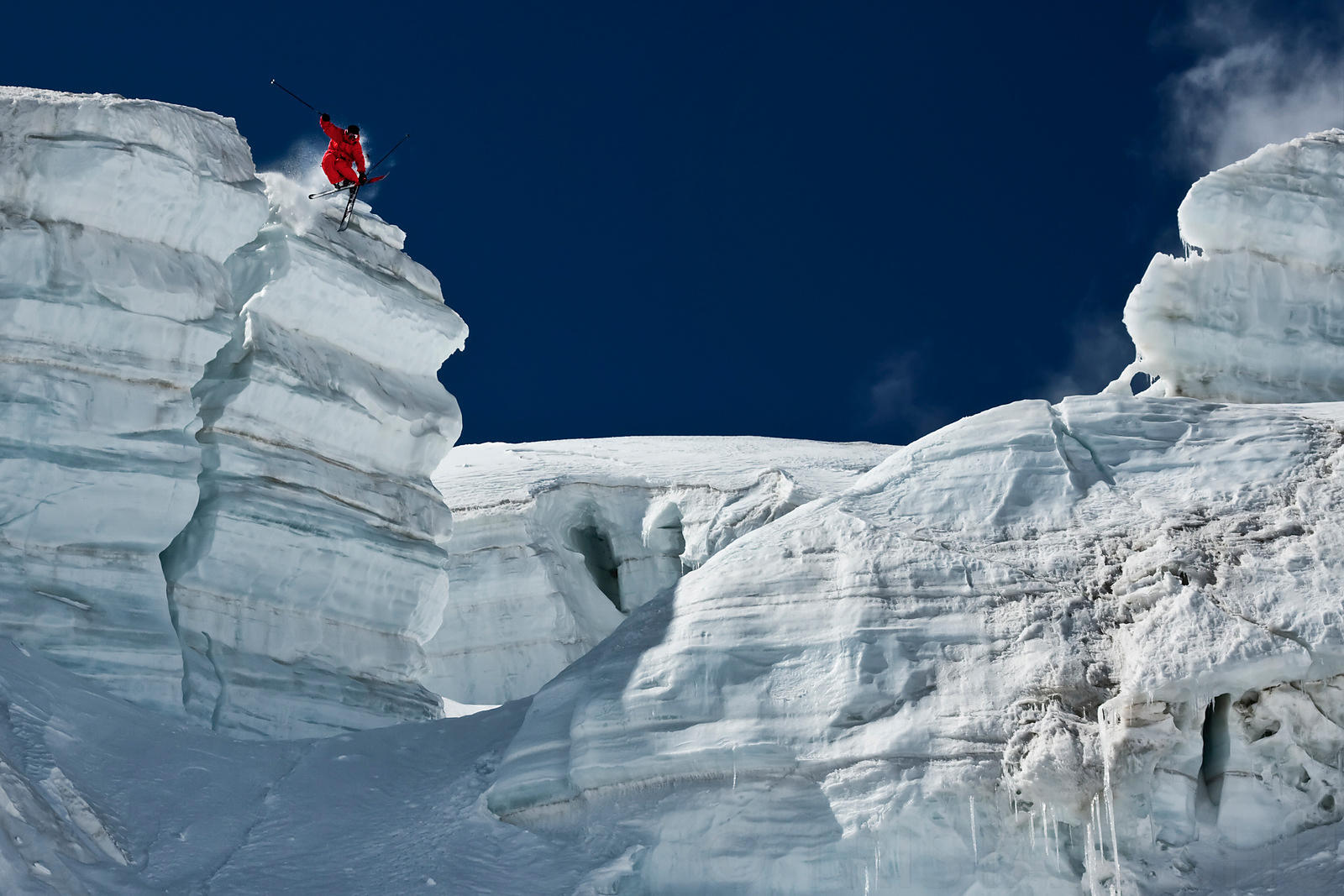 Jumping Ice Cliff with Guerlain Chicherit