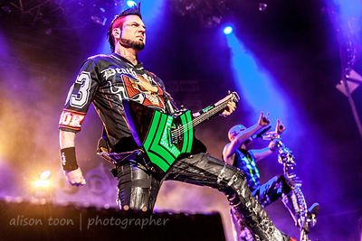 Jason Hook, guitars, Five Finger Death Punch