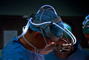 Fibre-optic surgical head-light
