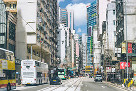 street scene of Sheung wan in Hong Kong