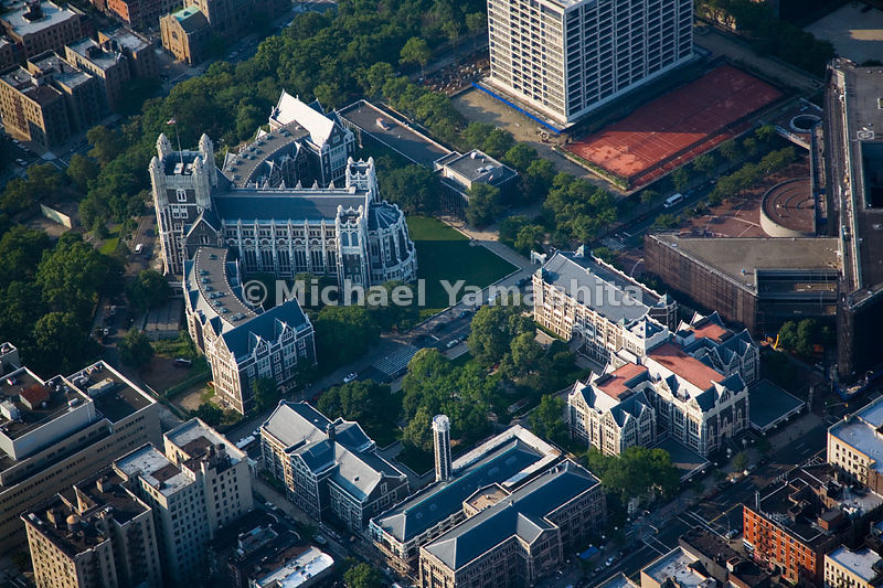 City University, in Harlem, with its landmark Neo-Gothic architecture, is the oldest free public educational institution in the United States.  Manhattan, New York City.