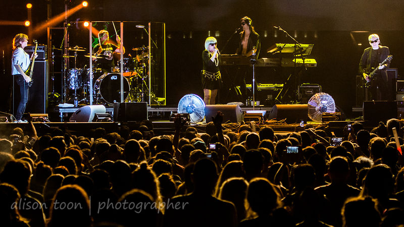 Blondie and fans, TBD Fest, Sacramento 2014