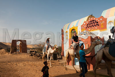 Gharb Soheil Nubian Village on the west bank of the River Nile next to Aswan Egypt