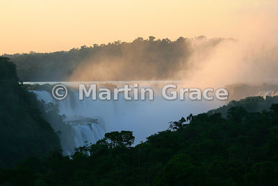 Iguazu Falls from Sheraton Hotel balcony just after dawn