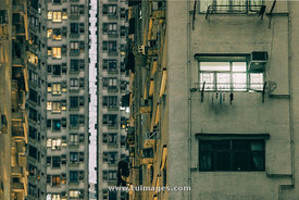 populated housings in hong kong