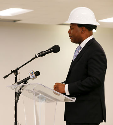 Norfolk Press Conference re Optima Health Bringing 200 New Jobs photos