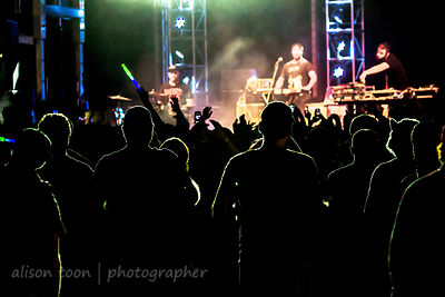 Crowd watching Keys N Krates at TBD Fest, Sacramento