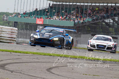 PGF-Kinfaun's Aston Martin Vantage GT3 in action at the Silverstone 500 - the third round of the British GT Championship 2014 - 1st June 2014