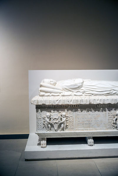 A sarcophagus at the Galeria Regionale di Palazzo Bellomo