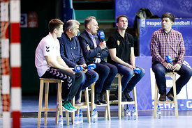 Simon Razgor, Bozidar Djurkovic, Sinisa Ostoic, Raul Gonzales and Goran Antevski during the Final Tournament - Final Four - SEHA - Gazprom league, Handball discussion in Brest, Belarus, 06.04.2017, Mandatory Credit ©SEHA/ Uros Hočevar