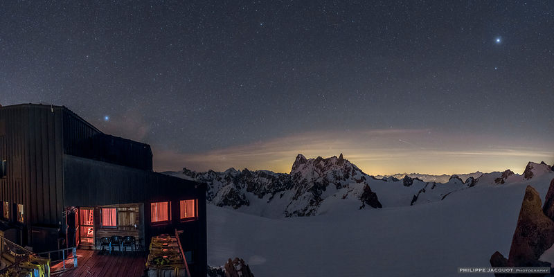 Jupiter and Vega at Cosmiques - Chamonix Mont-Blanc