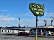 Historic Keller's Drive in (Dallas, TX) Hamburgers and Beer Sign