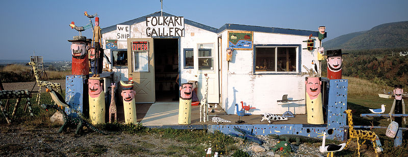 Roadside folk art gallery