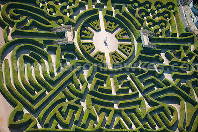Aerial view of Maze at Belheim Palace