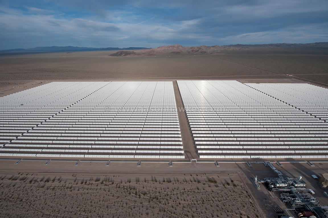 Solar One, slar power plant, Nevada Desert.