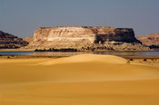 lake Siwa, the Great Sand Sea, Western desert, near Siwa oasis, Egypt