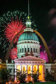 Old Courthouse and Fireworks