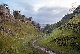 Cave Dale with Peveril Castle