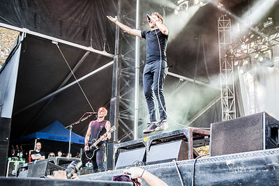 Tim McIlrath and Zach Blair of Rise Against, Aftershock 2014