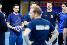 Team Meshkov Brest training during the Final Tournament - Final Four - SEHA - Gazprom league, Skopje, 12.04.2018, Mandatory Credit ©SEHA/ Stanko Gruden