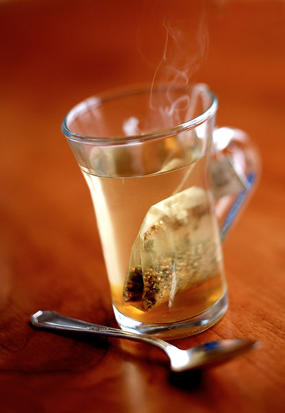 Steeping Tea in a Glass Mug