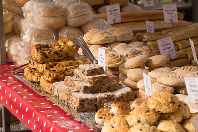 Cakes and pastries in Banbury Market