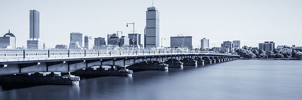 Boston Skyline Harvard Bridge Panorama Photo