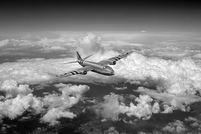 Canberra over the Med black and white version