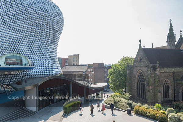 The Bullring Shopping Centre, home of the iconic Selfridges building. Birmingham, England.